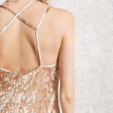 Бархата V-Шеи женщин способа платье выскальзования сексуального тонкого Backless