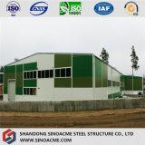 Nuovo magazzino prefabbricato moderno della struttura d'acciaio nel Messico
