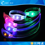 Festival-Bewegung betätigte das Blinken leuchten LED-Armband mit Firmenzeichen-Druck
