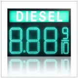 """7개의 세그먼트 기름 또는 가스 연료 /Diesel 녹색 12 디지털 8개의 """" 8.889/10 수 LED 가스 또는 기름 또는 휘발유 역 가격 전시 표시 널 스크린"""