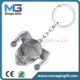 OEM caliente Keychain de la dimensión de una variable redonda de ventas con la plata acabada