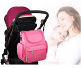 Sacola de mochila de fralda de grande capacidade com correias de carrinho de cetim Chanel Mat