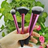 3PCS agradable al por mayor del metal de la manija El maquillaje cepilla el cepillo cosmético Herramientas