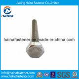 Boulon DIN933 Hex enduit de zinc d'acier inoxydable de solides solubles 304 avec la noix