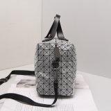 보스톤 회색 기하학적인 마름모꼴 접히는 핸드백 (A046)