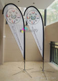 promotie producten geplaatst de bannervlag van de strandveer met douanedruk
