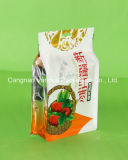 Plastic Side Seal Composite Zipper Bag para alimentos