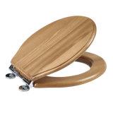 BSCI сертифицированных деревянный туалет сиденье с покрытием из ПВХ и закройте петли