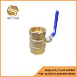 La vávula de bola de cobre amarillo del agua forjó la vávula de bola de la cuerda de rosca femenina