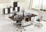 사무실을%s 현대 멜라민 베니어 워크 스테이션 분할 4 시트 워크 스테이션