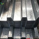 Feuille en acier ondulée de Decking galvanisée par feuille de tôle d'acier de toiture