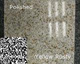 Laje oxidada amarela natural personalizada G682 do granito