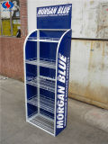 Logo personnalisé Metal Floor Shelf Stand Exhibition Exhibition Rack