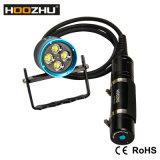 Hoozhu Hu33 Kanister-Tauchens-Licht imprägniern Taschenlampe der 120m Kanister-Tauchens-der Fackel-LED