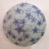 Luz de teto de vidro redonda simples moderna com máscara de vidro para interno