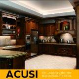 Gabinetes de cozinha americanos por atacado da madeira contínua de carvalho vermelho do estilo (ACS2-W25)