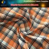 Tela teñida hilado anaranjado de la verificación del telar jacquar de Aty del poliester para la ropa (YD1164)