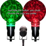 LEDの二重カラー赤い緑の万華鏡の動きの炎水波のスポットライトプロジェクター