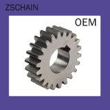 単一の鎖およびスプロケットの送電の部品の鋼鉄二重列のスプロケット