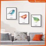 Птицы крася искусствоо на обрамленном холстиной декоре картины холстины искусствоа стены