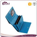 Бумажники женщины способа роскошные в голубом цвете, высоком качестве портмона неподдельной кожи крокодила