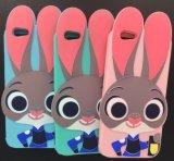[إيفون] 7 [جودي] أرنب ليّنة هاتف حالة رسم متحرّك سليكون حالة [دروب-برووف] قشرة قذيفة واقية