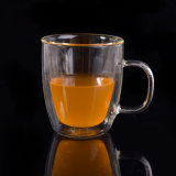A prueba de calor de doble pared de cristal taza de la taza de café
