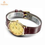 Роскошным вахта Mens Miyota покрынный золотом на wristwatch кварца нержавеющей стали сбывания на люди 72806