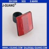 Рефлектор пластичной задего велосипеда красный (Jg-B-08)