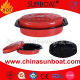 Sunboat Enamel Roaster Cookware Medium Sized Oval Chickenware