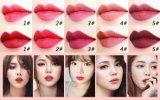 고품질 다른 색깔은 자신의 상표 매트 립스틱을 만든다