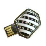 Movimentação do flash do USB da jóia da vara do USB do diamante