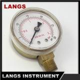 calibrador de presión del uso del oxígeno 057 de 50m m con interno de cobre amarillo