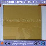 Lastra di vetro riflettente Bronze dorata del galleggiante (4mm 5mm 5.5mm 6mm 8mm)