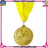 운동 경기를 위한 주문을 받아서 만들어진 금속 메달