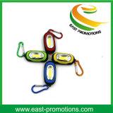 Presente promocional LED Lanterna chaveiro com marca Logo