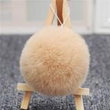 도매 또는 토끼 모피 자동 고사포 열쇠 고리를 위한 실제적인 동물성 모피 POM Poms/Keychains