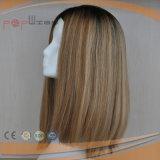 Волосы девственницы Unprocessed отсутствие париков Sheitel цвета тона шнурка 2 Silk верхних еврейских