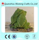 熱い販売の庭の装飾の樹脂の動物のカエルの置物