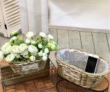 (BC-SF1011) Popular paja natural hecho a mano cesta de la flor