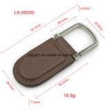 Promotion en couleur blanche en cuir Porte-clés / étiquette