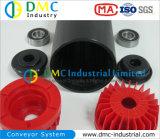 rouleaux de convoyeur de noir de renvoi de convoyeur de HDPE de système de convoyeur de diamètre de 102mm