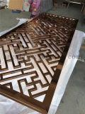 Restraunt Use Modern Design Décoration personnalisée Décoration d'écran en acier inoxydable
