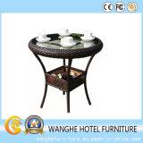Table basse extérieure simple classique de meubles de rotin