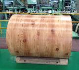 Película de PVC Coatedd PPGI Patrón de madera de la bobina de bobinas de acero para Tailandia