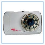 Novatek White Car Camera com 9 IR Lamps Night Vision
