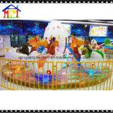 Динозавр веселый идет игрушка занятности езды тематического парка занятности круга