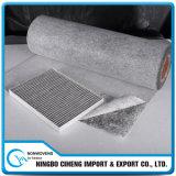 Compuesto no tejido de carbón activado paño de la fibra para el filtro automático