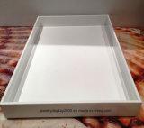 Bandeja multiusos de acrílico blanco ideal para vestidor / joyería / pantalla