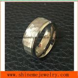 Shinemeの宝石類の方法宝石類の浮彫りになるチタニウムのリング(TR1852)